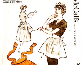 McCall's Sample Apron Vintage 1950s Sewing Pattern