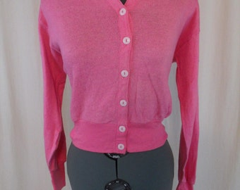 Vintage 60s Cotton Candy Pink Lightweight Sweater M L