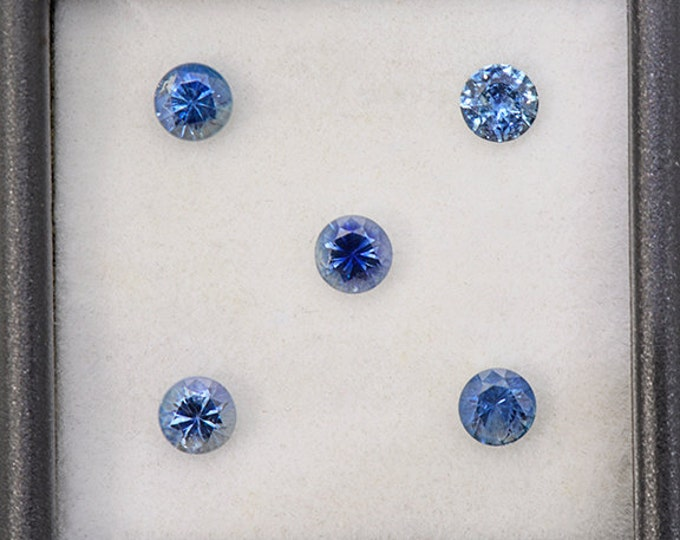 Exceptional Blue Sapphire Gemstone Set from Montana 1.76 tcw