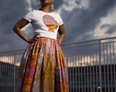 African Clothing: A F I Y A Belle Skirt Set made from Vlisco Java Wax