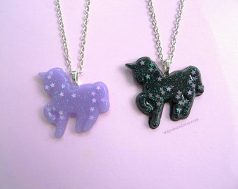 Starry Unicorn Necklaces- Fairy Kei-Sweet Lolita -Kawaii-Pastel Goth