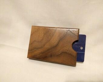 Black Walnut Wooden Gift Card Holder