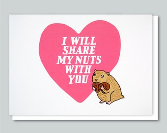 Funny Valentine Card, Romantic, Valentine, I Love You, Funny Greeting Card,