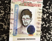 Edward Snowden Soft Enamel Pin - Free US Shipping