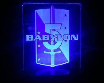 Babylon 5 LED acrylic display Acrylic LED light sign, led display sign, led lite sign, led night light, LED sign, led lamp