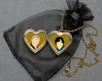 Johnlock OTP necklace – BBC Sherlock x John locket – fandom cosplay jewellery / jewelry