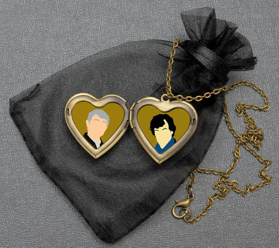 Johnlock OTP necklace – BBC Sherlock x John locket – fandom cosplay jewellery / jewelry