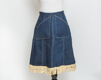 Vintage Denim Western Skirt