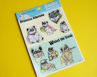 Vintage Star Wars EWOKS Perk-Up Stickers Pack by Drawing Board Greetings