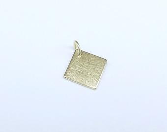 Gold Pendant square 333 gold 10mm