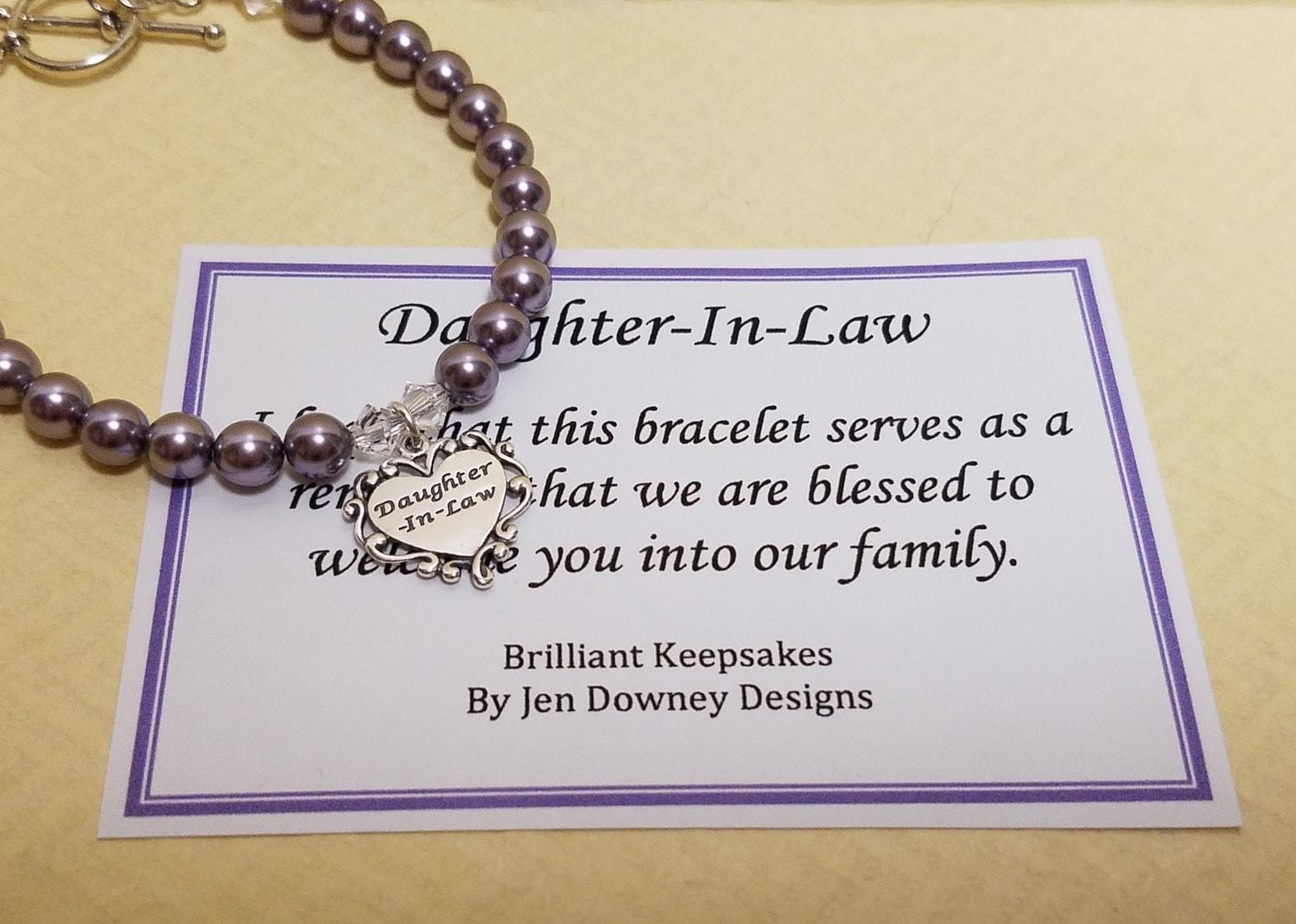 Daughter Wedding Gift: Pearl Daughter In Law Wedding Gift Keepsake Sterling Silver