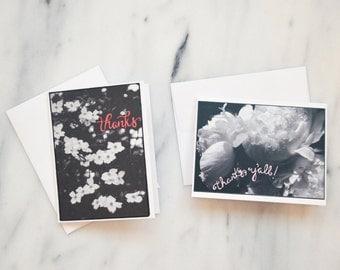 SALE!! Floral Thanks Card Pack {Set of 10}