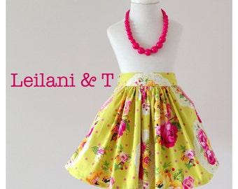PATTERN Girls Flat Front Gathered Skirt - PDF Sewing Pattern - Instant Download - Pattern Emporium