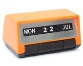 Vintage Desk Calendar Orange Perpetual Calendar Office Desk Accessories Small Calendar