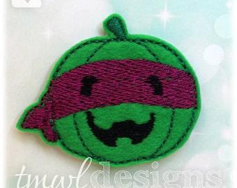 "Pumpkin Ninja Feltie Digital Design File - 1.75"""