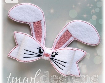 Felt Bunny Bow Digital Design File