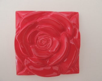 Red Rose  Red Rose Tile Wall Decor