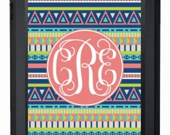 Monogrammed OtterBox Defender Personalized iPad Case, iPad 2/3/4, iPad Air, iPad Mini, Aztec Design