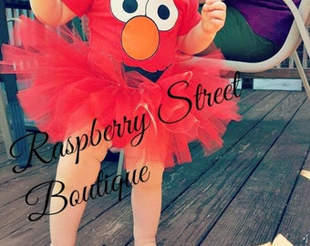 Elmo tutu Set, Or Abby Cadabby Tutu Set, Sesame Street
