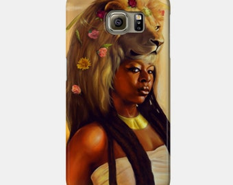 Leo Samsung Galaxy Phone Case African American Zodiac Goddess Black Girl Magic  Afrofuturism