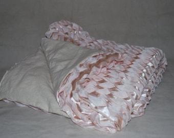 Satin Blush Throw Blanket