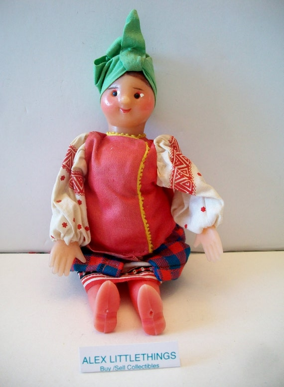 Vintage Ethnic Mockobckar Russian Doll Collectible Toy