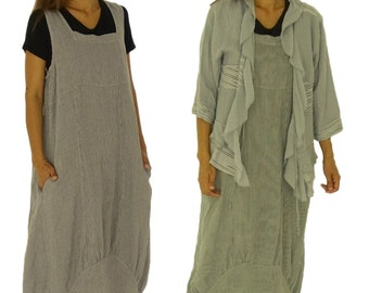 HH700GR ladies dress linen tunic Gr. 42 44 46 48 50 52 grey