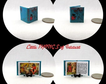 BEAUTY And The BEAST Miniature Book Dollhouse 1:12 Scale Readable Illustrated Book