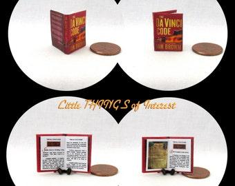 The DA VINCI CODE Miniature Book Dollhouse 1:12 Scale Book Readable Book by Dan Brown