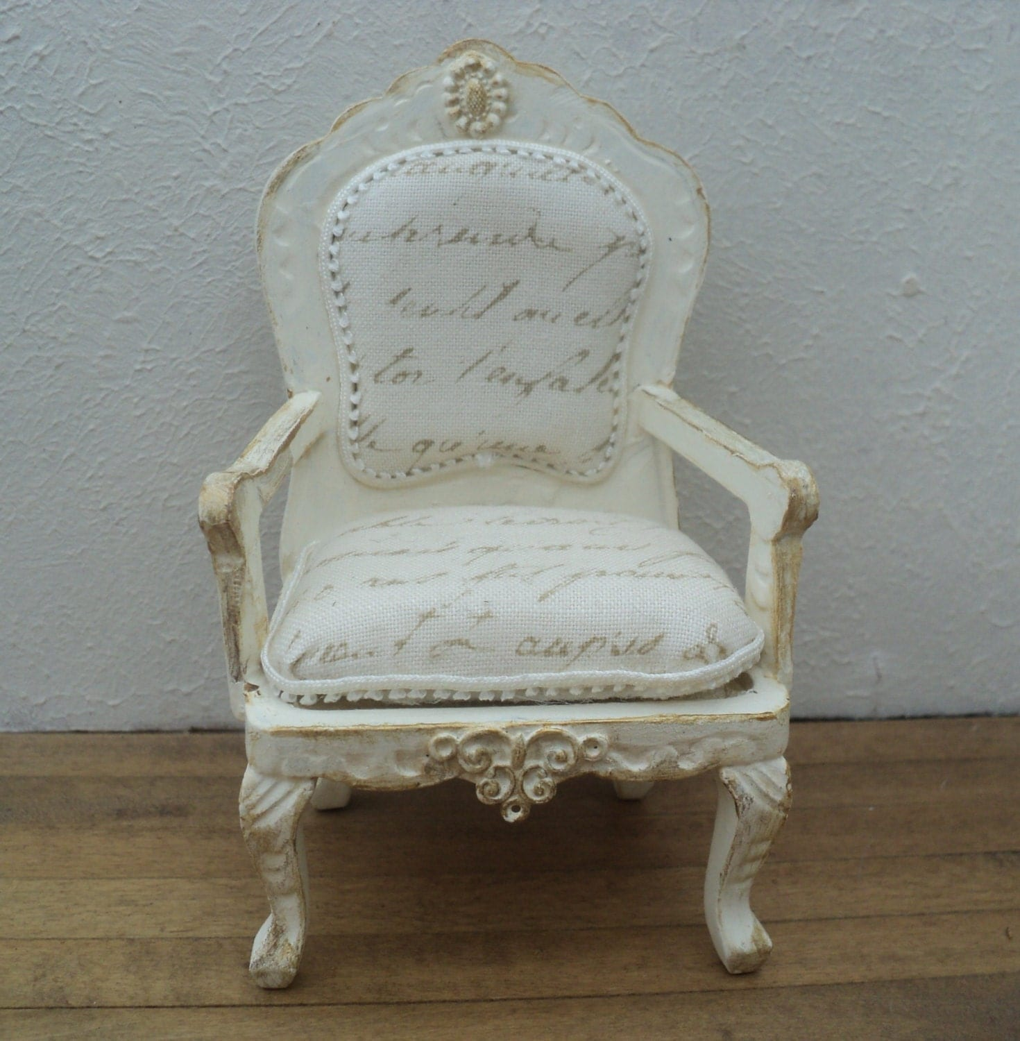 dollhouse miniature french parlor chair by anothercosyshop