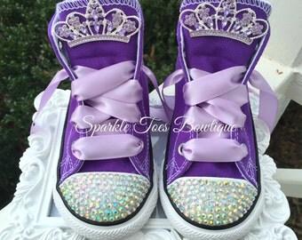 Sofía la primera zapatos - Sofía la primera amuleto arco Birthday Sofia Sofia partido perla Sofía Costume cristales púrpura conversan Sofía Costume