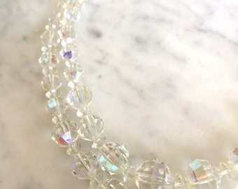 Vintage Laguna Crystal Beaded Two Strand Necklace