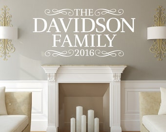 Personalized Family Name Wall Decal - Name Wall Decal - Family Name Decals - Monogram Wall Decals - Wedding Gift - Last name sign