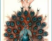 Art Print La Vie Parisienne Peacock, 1925 Print 8 x 10