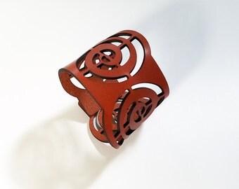 Swirl Leather Cuff Bracelet
