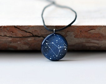 Leo pendant Constellation July august birthday Boyfriend gift Astrology jewelry Personalized Leo horoscope Zodiac necklace For him Sign Men