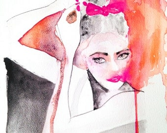 Print from original watercolor painting 'The Dancer""