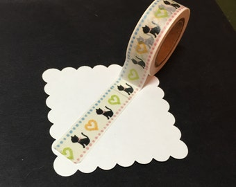 Cute Black Cat Washi Tape WT1067BC