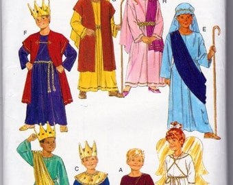 Children's Nativity Scene  Halloween Costume Patterns,Butterick 6505,  Childrens Sizes 2 to 14 Included