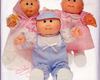 Butterick 6981 aka Butterick 346 Cabbage Patch Kids Preemies Clothing Pattern,