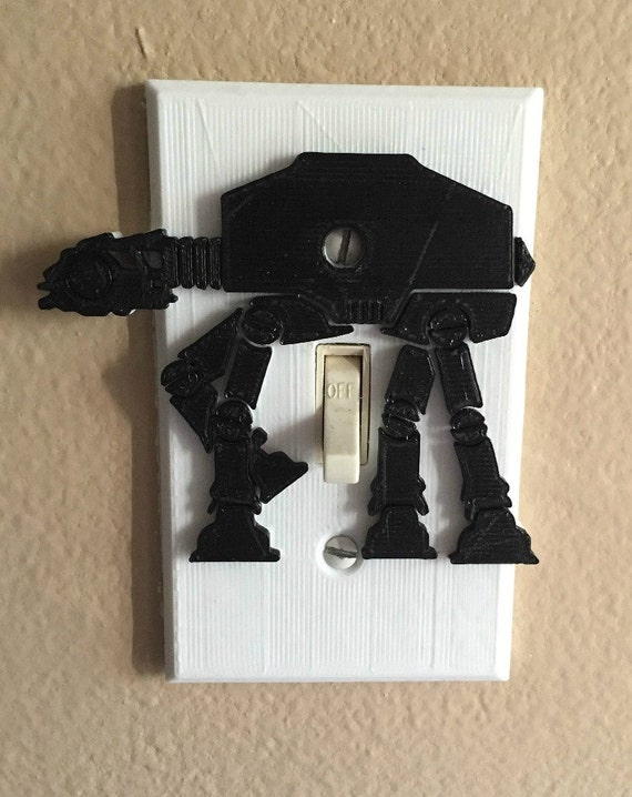 Star Wars At At Light Switch Cover 3d Printed Complete Plate