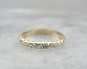 Gorgeous Diamond Anniversary or Wedding Band, Stacking Ring  DMH573-D