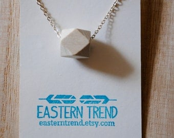 On Sale: Wood Geo Necklace