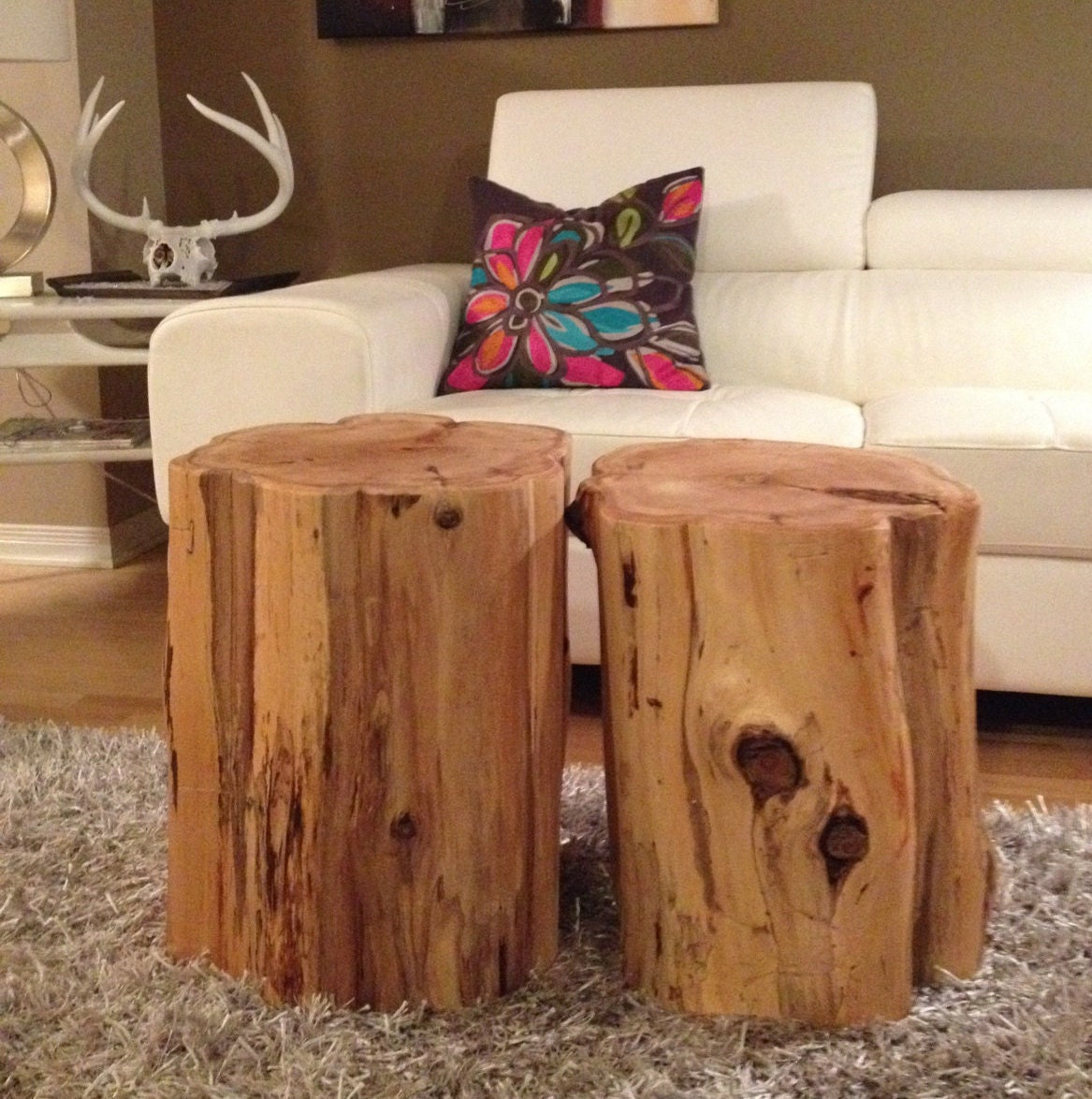Stump tableslog furniturestump coffee table wood block for Stump furniture making