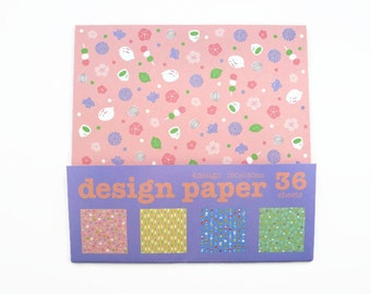 SALE! Origami Paper Sheets - Japanese Style Design Papers - 36 Sheets