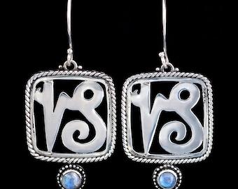 Sterling Silver Capricorn Earrings: CAPRICORN