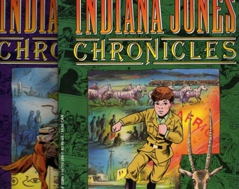 Lot 2 Indiana Jones Comics, Indiana Jones, Indiana Jones Comic Book,Comic Books, Comic Book, Hollywood Comics, Indiana Jones Movie, 1992