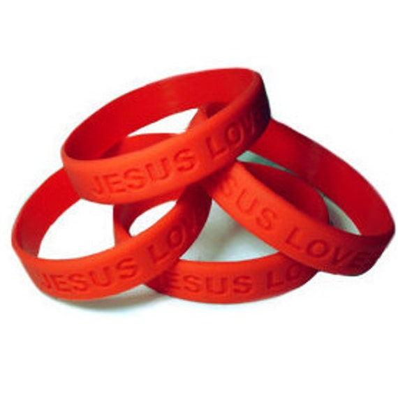 2 christian silicone wrist bands bracelets jesus me