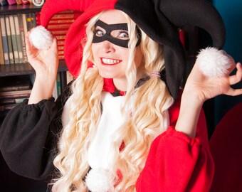 Harley Quinn inspired kigurumi. Mask is included! (adult onesie, pajama)