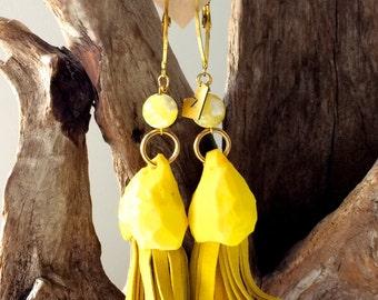 Handcrafted EARRINGS | Sunshine Yellow
